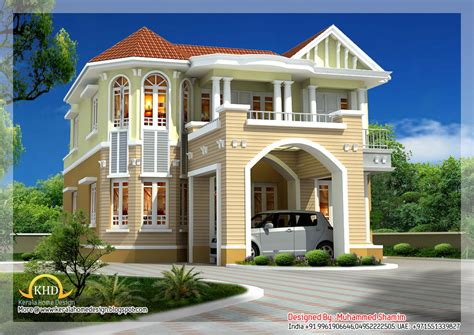 beautiful home plans beautiful house elevation 2590 sq ft kerala house