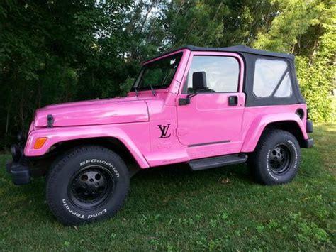 pink jeep 2 door find used 1998 jeep wrangler sport utility 2 door 4