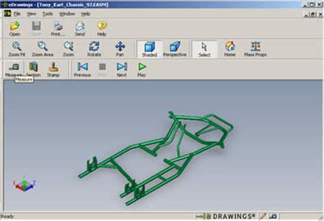 frame design software download solidworks cad drawing of a tony kart chassis at