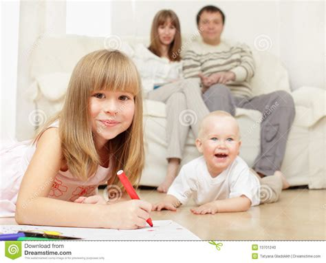 happy family at home stock photo image 13701240