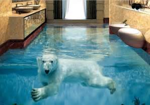 Customized Wall Murals custom vinyl flooring adhesives polar bear underwater