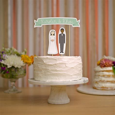 Handmade Wedding Cake Toppers - wedding cake topper set custom cake banner no 3