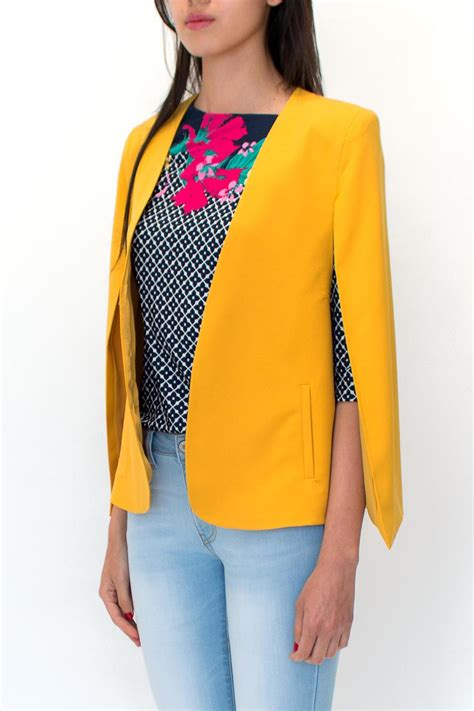 mustard color blazer ovi mustard cape blazer from mexico by palet shoptiques