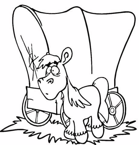 horse and wagon coloring pages coloring pages