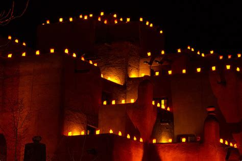 luminarias adobe architecture santa fe new mexico flickr