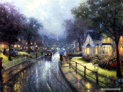 who is the painter of light free kinkade wallpapers for desktop wallpaper cave
