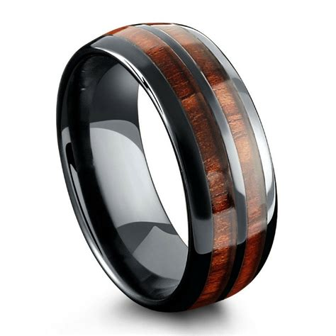 Wooden Wedding Rings by Barrel Ceramic Koa Wood Ring Northernroyal