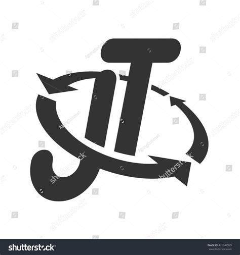 design jt logo jt logo design stock vector 431347999 shutterstock