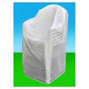 housse plastique chaises de jardin protection mobilier