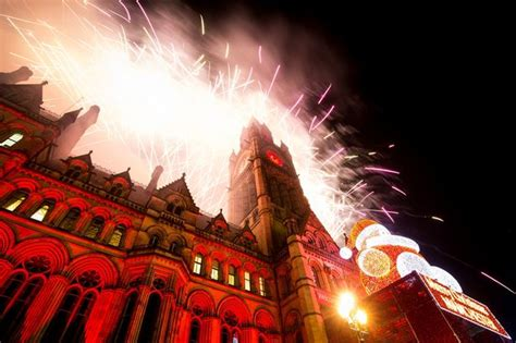 new year manchester recap manchester new year s revellers gather in