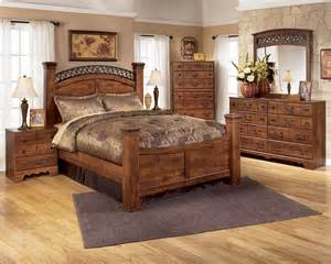 bedroom collections timberline warm brown b258 4 pc king poster bedroom set