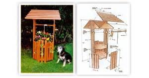 Garden Potting Bench - wishing well planter plans woodarchivist