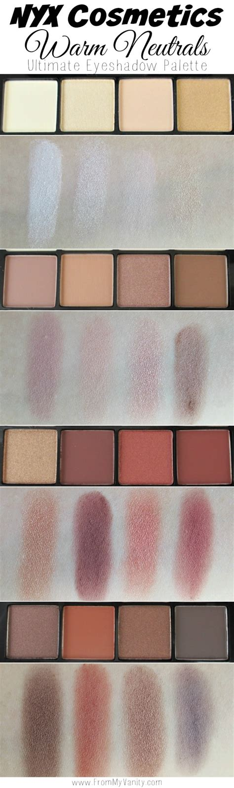 Nyx Ultimate Eyeshadow Palette nyx cosmetics ultimate shadow palettes review swatches