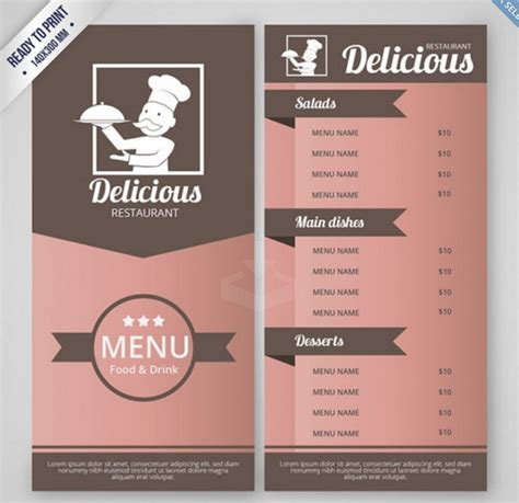 Top 30 Free Restaurant Menu Psd Templates In 2018 Colorlib Restaurant Menu Design Templates