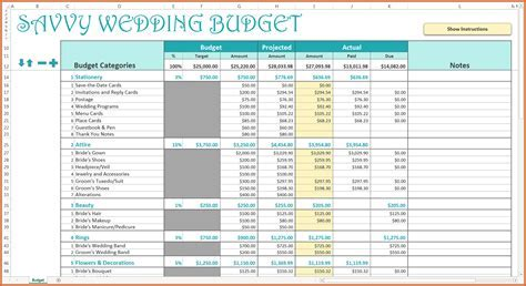 Wedding Budget Excel Spreadsheet Uk Payment Spreadshee