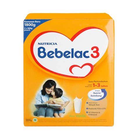 Bebelac 3 Vanila jual groceries bebelac 3 vanila formula box 1800gr