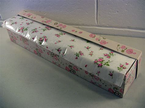 shabby vintage box floral pink roses print polyfab roll