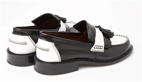 two tone tassel loafers delicious junction tassel loafer 2 tone ska black white