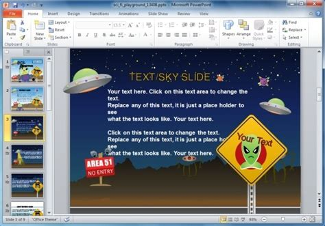 Animated Sci Fi PowerPoint Template For Kids & Educational