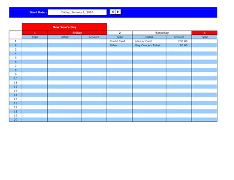 bill pay calendar template bill payment calendar excel templates excel