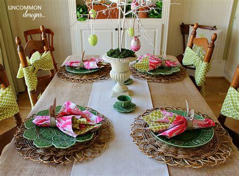 tablescape ideas easter tablescape bunnies and burlap uncommon designs