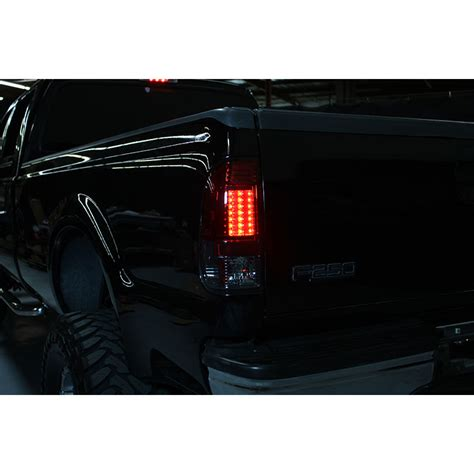 97 03 ford f150 99 07 superduty led lights smoked