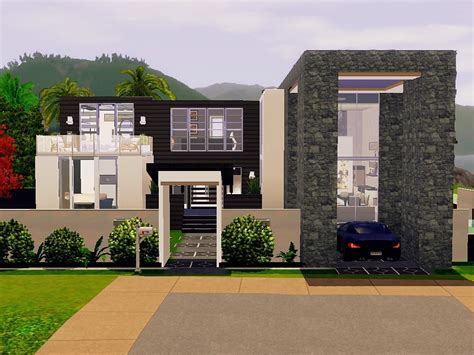 sims 3 modern house design modern sims 3 house plans lovely mod the sims modern beach house no cc new home