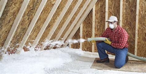 blown in insulation in attic install blown in attic insulation