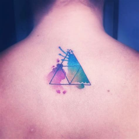 zelda triforce watercolor tattoo by nancy abraham my