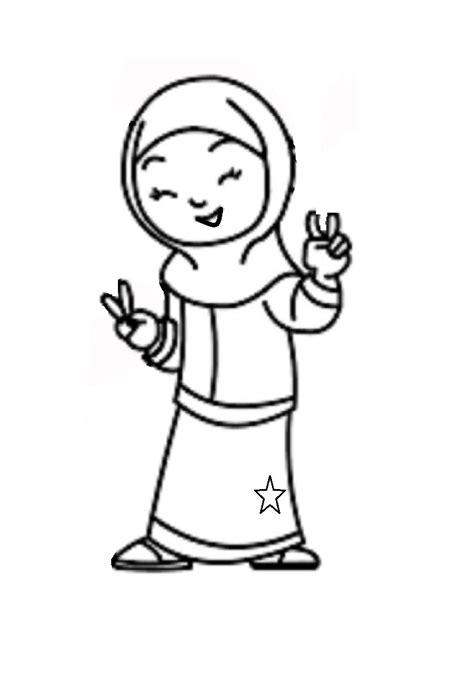 mewarnai gambar anak perempuan mewarnai gambar mewarnai gambar anak muslimah 6 alqur anmulia