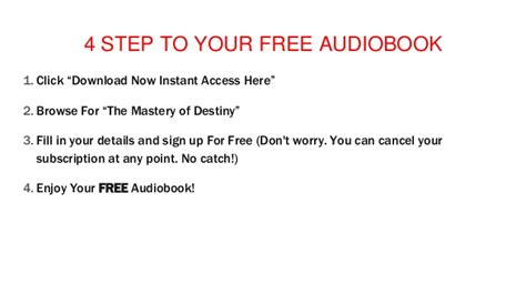 the mastery of destiny audiobook download streaming mp3 the mastery of destiny