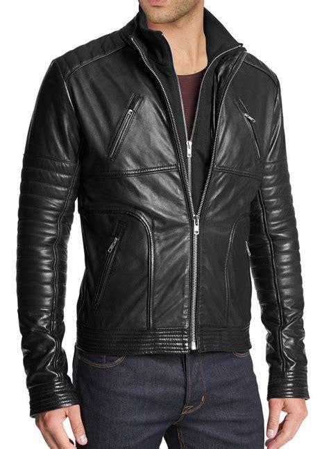 handmade mens fashion biker leather jacket