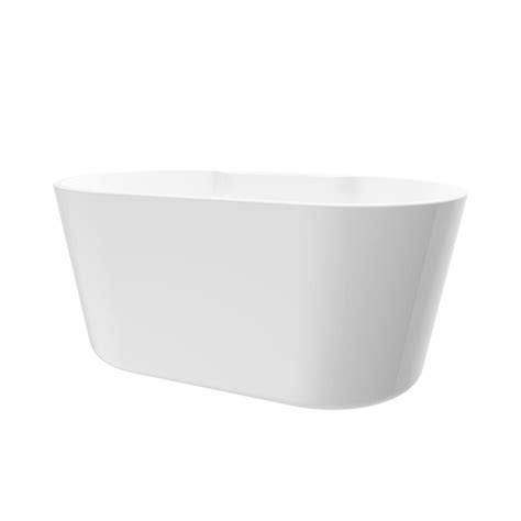 56 freestanding bathtub renwil coral 56 in acrylic freestanding flatbottom non