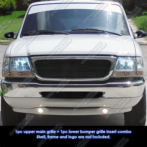 6703 Front Grille Isuzu Nkr 71 fits 98 00 ford ranger black billet grille combo insert