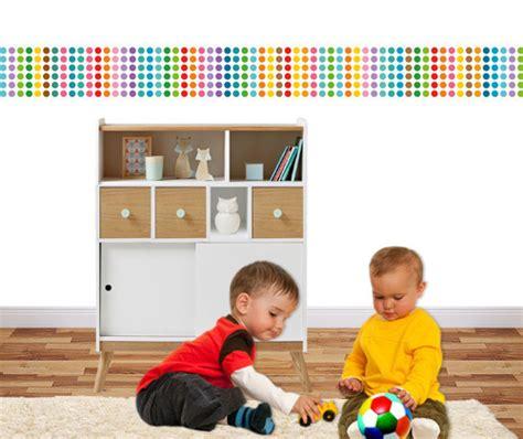 bordure kinderzimmer punkte bord 252 re viele bunte konfetti punkte kinderzimmer