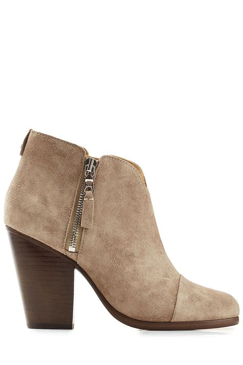 rag bone suede ankle boots beige in multicolor lyst