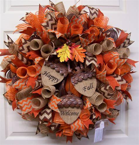 autumn wreaths fall mesh wreathfall burlap wreathfall door by cherylscrafts1