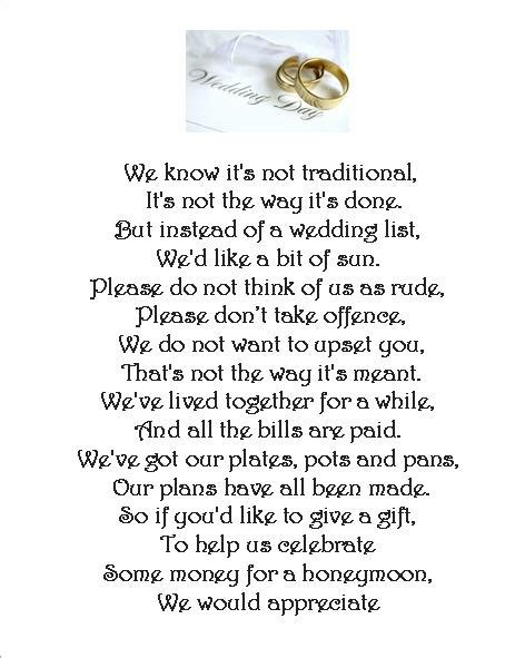 wedding poems for cards wedding money request poem cards 3 different poems