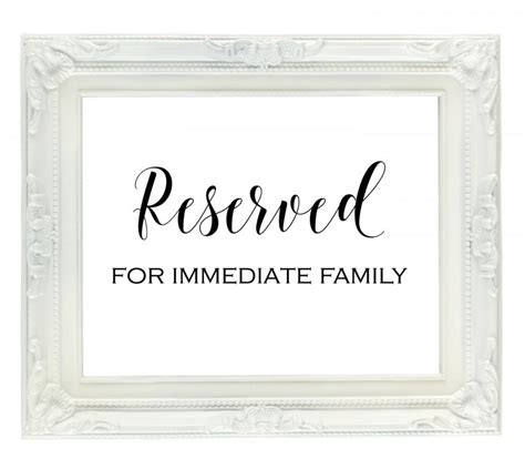 reserved signs for wedding tables wedding reserved signs template gallery exle