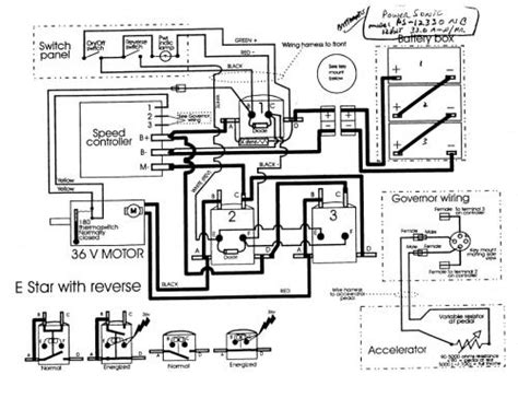 wiring diagram 1983 36 volt ez go golf cart wiring