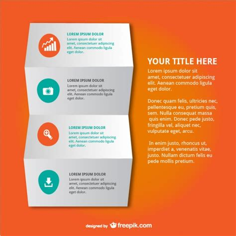 Folded Paper Design - infographic folded paper design vector free