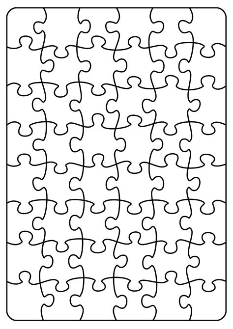 Clipart Jigsaw Puzzle A4 6 X 8 Jigsaw Puzzle Design Template