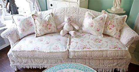 Cover Sofa Pink Lace Shabby Chic Vintage Bunga Floral 90x180cm shabby chic sofa slipcover ed vintage chenille bedspread fabrics cottage vintage