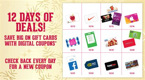 Kroger Online Gift Card - 12 days of christmas gift card deals at kroger bargains to bounty