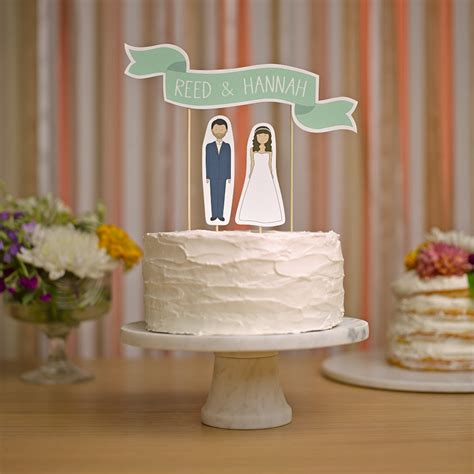 Handmade Wedding Cake Toppers - wedding cake topper custom names cake topper banner no 2