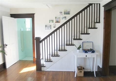 Painting A Banister White Modern Farmhouse Staircase Makeover The Definery Co