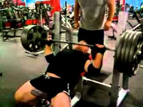 405 lb bench press jeff linton 405 lb incline bench press youtube