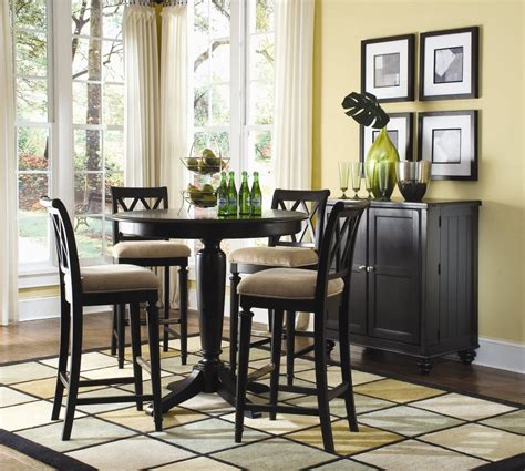 Black Dining Room Bar American Drew Camden 5 Pc Bar Height Dining Set In