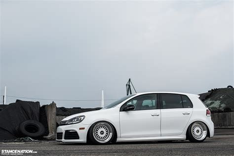 volkswagen thing stance in white yasunobu s usdm style vw golf
