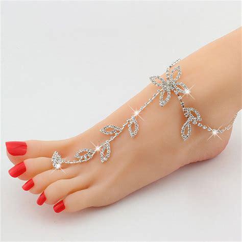 shoeless sandals foot jewelry rhinestone barefoot sandal barefoot